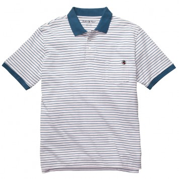 Pocket Polo - Pink/Blue Stripe